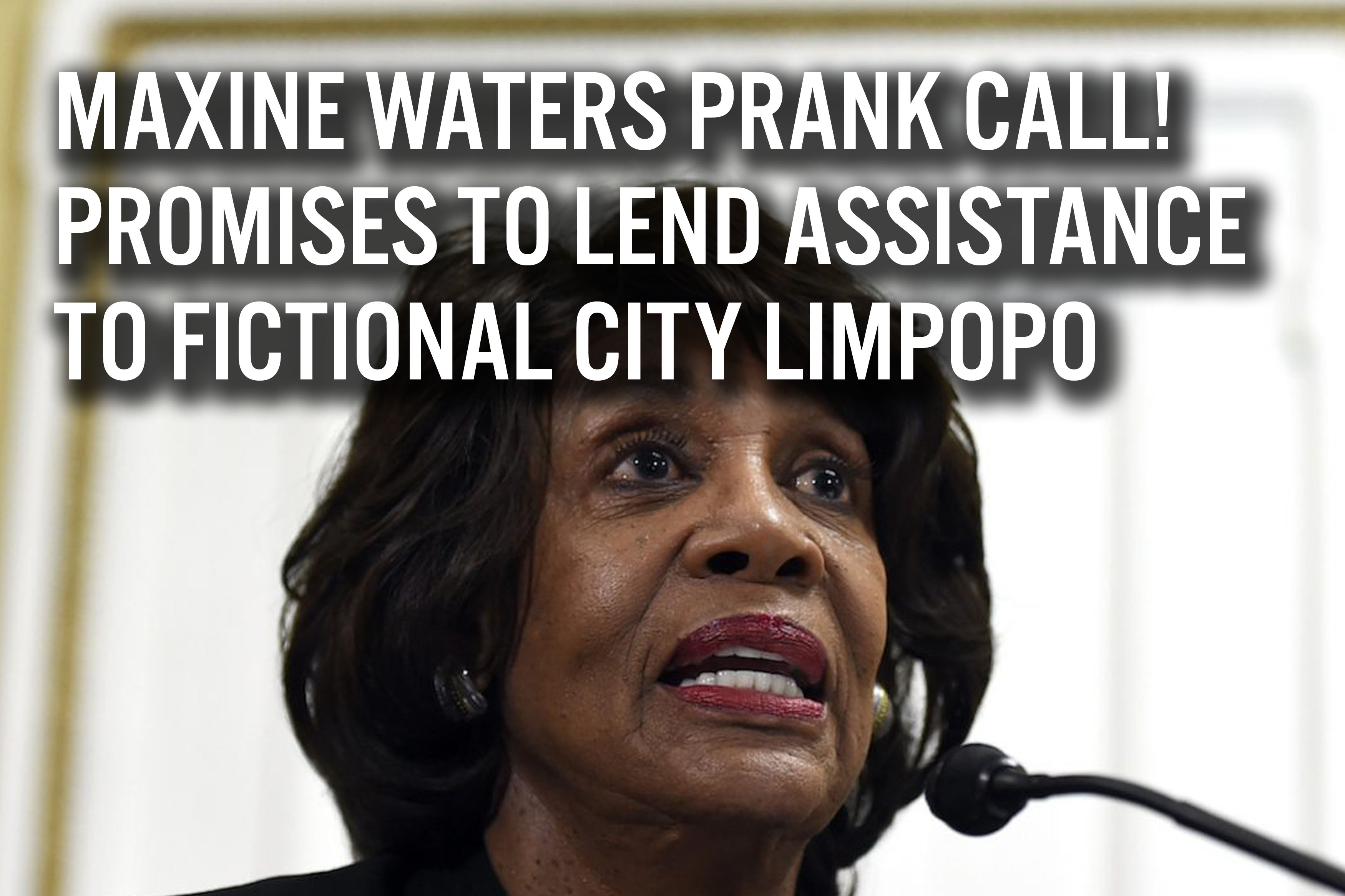 Maxine Waters Prank