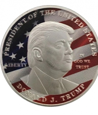Trump with Flag Silver