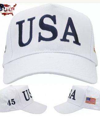 Trump 45 Hat White