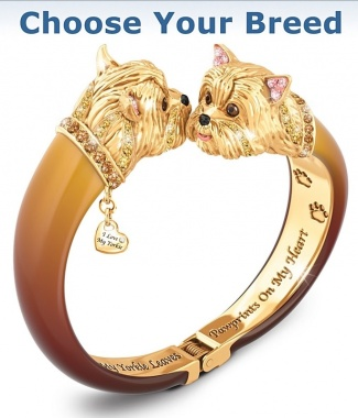 Engraved Bangle Bracelet: Choose Your Breed