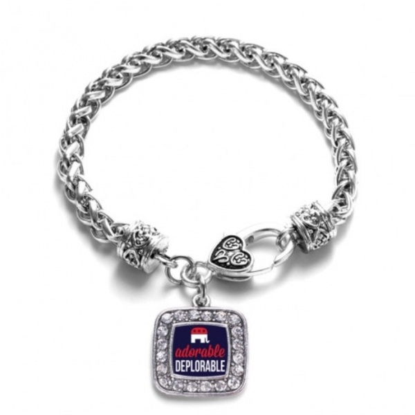 Adorable Deplorable Charm Braided Bracelet