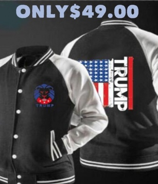 Light weight Trump Flag Jacket (Black)