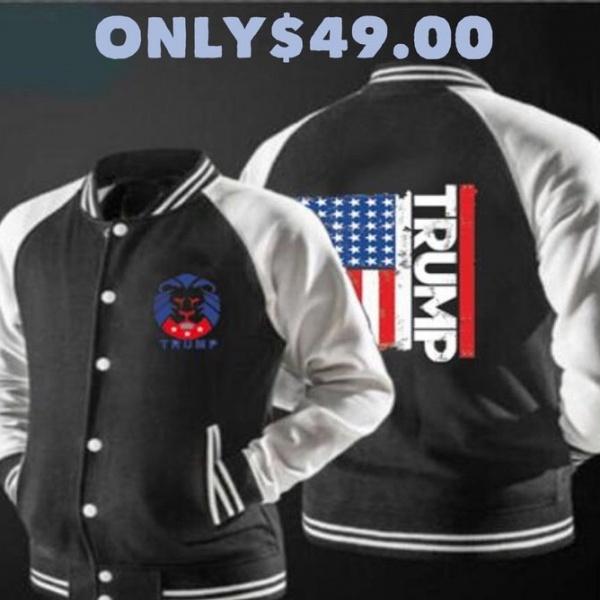Light weight Trump Flag Jacket (Black)