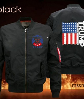 Trump Zipper Jacket (Black)