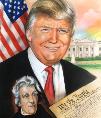President Trump with Andrew Jackson