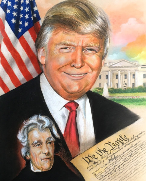 President Trump with Andrew Jackson