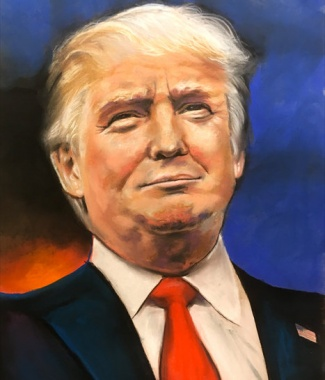 President Trump Color Print