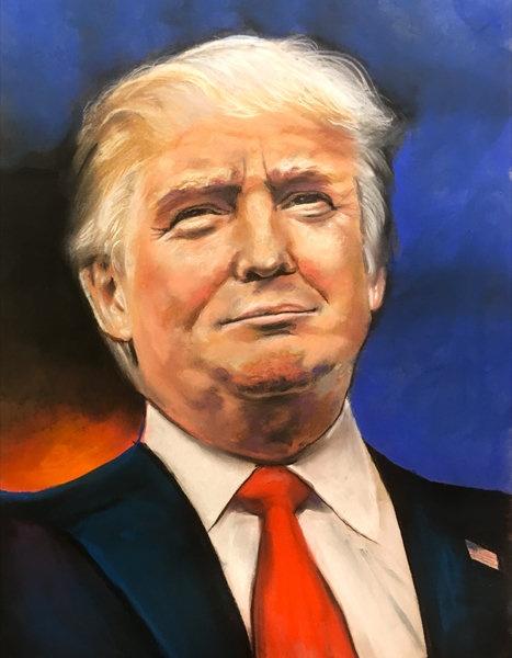 President Trump Color Print