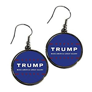 Trump Make America Great Premium Alloy Earrings