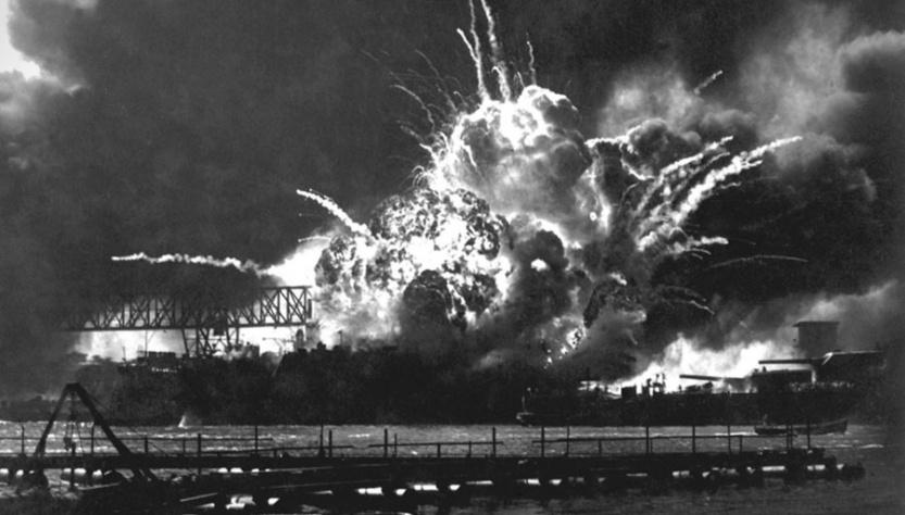 Explosion-USS-Shaw-magazine-attack-Pearl-Harbor-Dec-7-1941