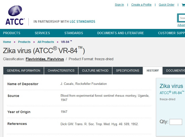 Rockefeller Foundation Zika Virus 1947 Patent