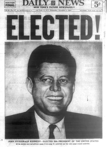 1961- John F. Kennedy Becomes President