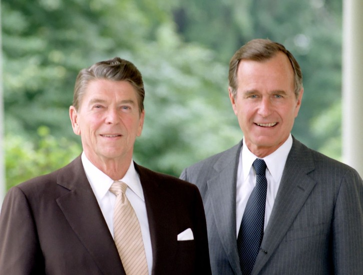1980- Ronald Reagan Elected 40th President With VP George H.W. Bush
