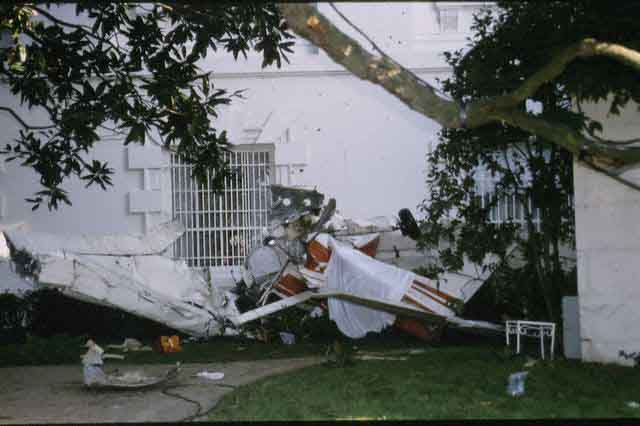1994- Plane Crashes Into White House Lawn