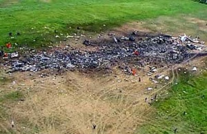 Shanksville crash crater