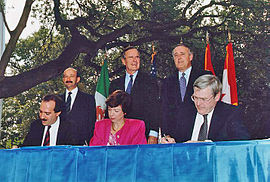 1992- North American Free Trade Agreement