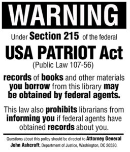 2001- Patriot Act Signed Into Law